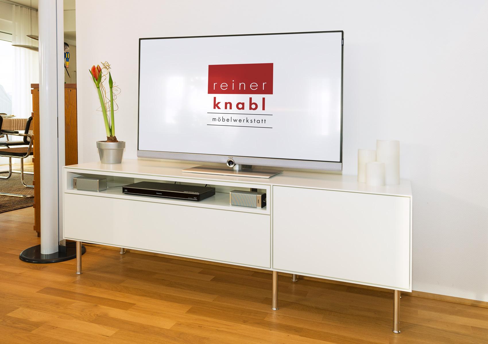 schrankwand als tv und phonom bel reiner knabl m belwerkstatt. Black Bedroom Furniture Sets. Home Design Ideas